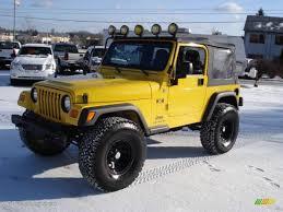2006 solar yellow jeep wrangler x 4x4 23094440 gtcarlot com