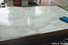 diy faux marble coffee table makeover tutorial arts and classy