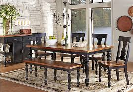 rooms to go dining sets hillside cottage black 5 pc dining room rectangle traditional