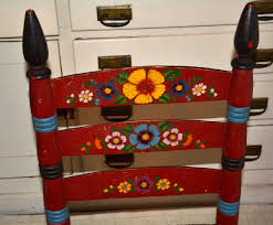 Mexican Chairs Vintage Mexican Painted Chair With Label Collectors Weekly