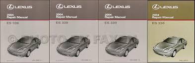 lexus is owners manual 2004 lexus es 330 repair shop manual original set