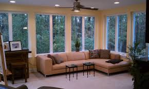 Sunroom Sofa Furniture Simple And Modern Themed Sunroom With Sofa And Small