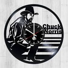 chuck norris vinyl record handmade wall clock vinyl clocks
