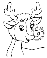 learning christmas coloring pages rudolph reindeer