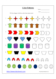 pattern math worksheets preschool kindergarten math printables 2 sequencing to 25 patterns worksheets