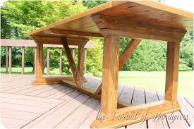 Building Outdoor Wooden Tables by My Z Gallerie Inspired Outdoor Dining Table