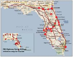 Florida Map Of Beaches by 40 Caliber Serial Killer Roaming I 4 In Florida Responsible For 29