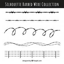 barbed wire design pack vector free
