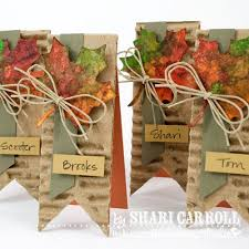 simple place cards cut corrugated cardboard and colored