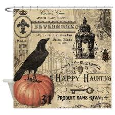 vintage halloween fabrics compare prices on halloween shower curtains online shopping buy