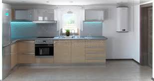 cuisine en forme de l l intérieur en forme de l de cuisine de minimalisme 3d rendent