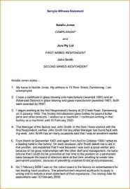 sample witness statement sample last will and testament form