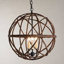 Twig Light Fixtures Twig Sphere Chandelier Or Pendant Light Shades Of Light