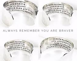 Thanksgiving Bracelet Poem You Are Braver Than You Believe Etsy