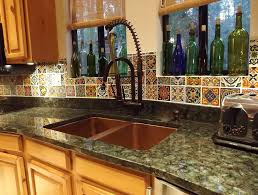 special dining table theme together with mexican tile backsplash