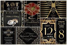 gatsby black gold theme art deco invitations u2013 partyinvitecards