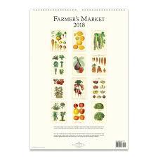 cavallini calendars farmers market poster calendar 2018 cavallini papers co