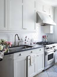 Lilly Bunn Interior Kitchens White Shaker Kitchen Cabinets - Kitchen cabinet hardware brushed nickel