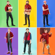 Halloween Clothes How To Turn 1 Flannel Shirt Into 6 Halloween Costumes Brit Co