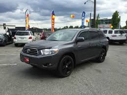 4wd toyota highlander 2008 toyota highlander 4wd sport inventory coquitlam preowned