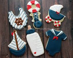 sailor baby shower nautical boy cookies etsy