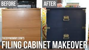 campaign dresser inspired filing cabinet makeover with fat paint