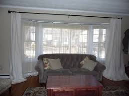 Bay Window Curtain Rod Gorgeous Kohl S Bay Window Curtains On Living Room Curtain Ideas