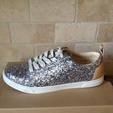 ugg womens tennis shoes ugg australia karine chunky glitter silver multi tennis shoes