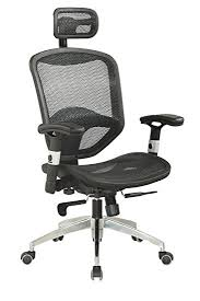desk chair with headrest amazon com chintaly imports 4025 mesh seat and back with headrest