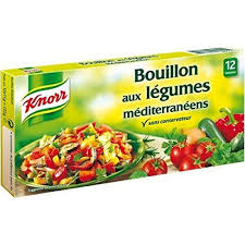 glutamate de sodium cuisine knorr bouillon aux légumes méditérranéens 12 tablettes 132g