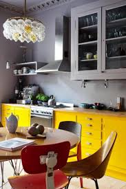 Blue Yellow Kitchen - kitchen colorful kitchen ideas for nice looking kitchens playing