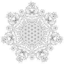 coloring pages flower of life free coloring pages for to