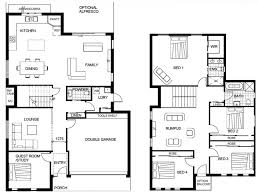 house plans two story floor plan modern small double storey