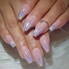 nails on 10 holographic chrome ombré https www facebook com
