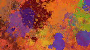 Paint Splatter Wallpaper by Watercolor Paint Splatter Monotype Stains Art Pattern Hd Wallpaper