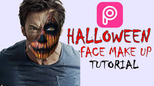 how to make halloween face in picsart mobile easy tutorial youtube