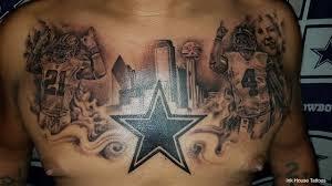 cowboys fan tattoos dak zeke across his chest kdfw