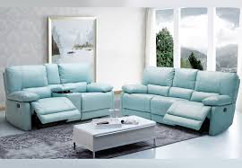 maui light blue power reclining sofa and reclining console