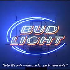 bud light neon light bud light neon sign neon bulbs recreation room garage art neon signs
