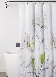 Kas Shower Curtain White Lily Shower Curtain Pure White And Decorating