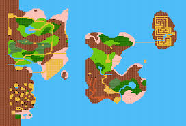Final Fantasy 2 World Map by Adventures Of Link World Maps