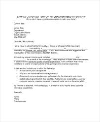 cover letter for internship position 80 images sample cover