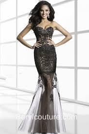 mermaid sweetheart neckline black tulle lace beaded long evening