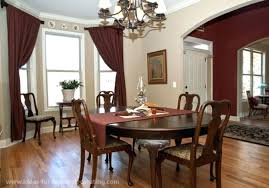 dining room window treatments ideas country curtain casual bay