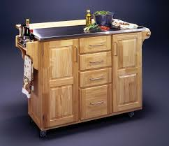 furniture rustic varnished walnut kitchen cart which furnished