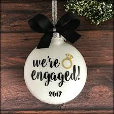 amazon com engaged ornament engagement christmas ornament