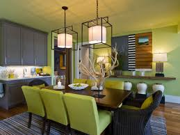 100 green dining rooms dining room with framed bird wall