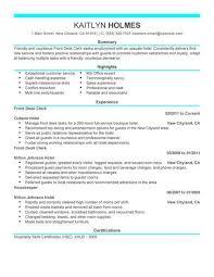 desk clerk cover letter