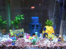 8pcs lot aquarium fish tank decoration spongebob aquarium ornament