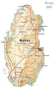 doha qatar map map of qatar by phonebook of quatar com